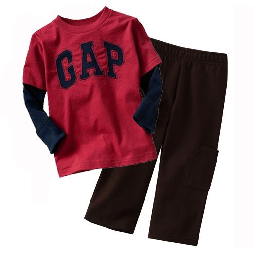 Venda quente Grosso Tops Calças das Crianças Set Meninas Roupas Mais Quentes tracksuits Crianças camisetas Calças Terno