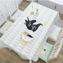 цена на Simple waterproof tablecloth small fresh Table cloth fabric rectangular tablecloth coffee table cloth 030