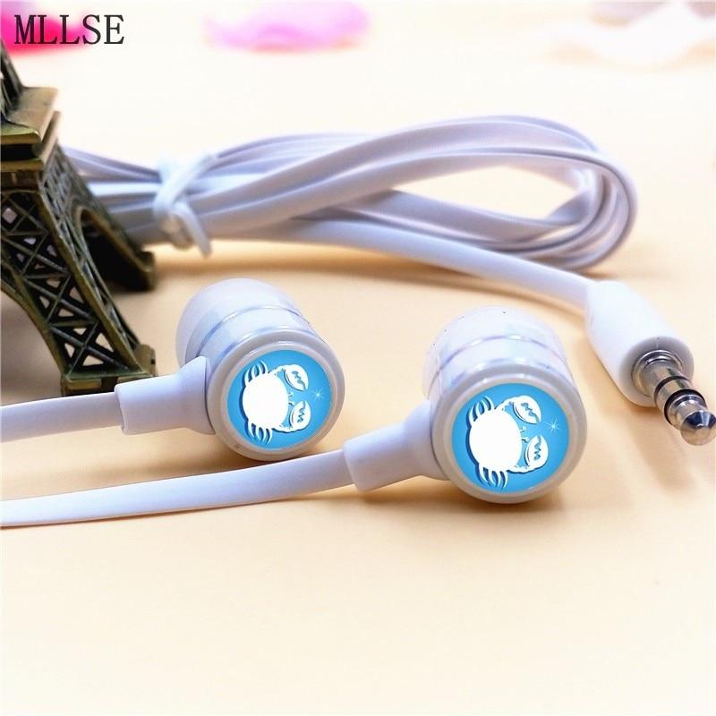 MLLSE Anime Fairy Tail Zodiac Cancer In-ear Earphones 3.5mm Stereo Earbuds Phone Music Game Headset for Iphone Samsung VIVO MP3 робот zodiac ov3400