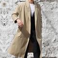 Новая Мода мужская Пальто Вскользь Корейский Британский Стиль X-Long Верхняя Одежда Большой Размер Свободная Одежда Тренчи мужская Одежда