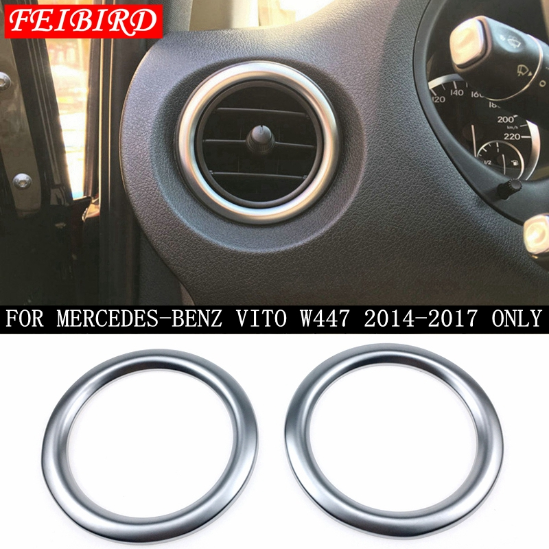 Accessories For Mercedes-Benz Vito W447 2014 2015 2016 2017 2018 Side Air Condition AC Outlet Vent Molding Ring Cover Trim image