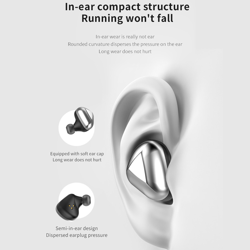 MOOJECAL Bluetooth earphone 9D stereo wireless headphones Sports Earbuds Gaming Headset 5 0 auriculares For Xiaomi redmi airdots in Phone Earphones Headphones from Consumer Electronics