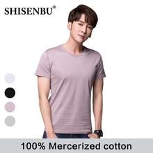100% Mercerized cotton t-shirts men High Quality short sleeve men's tshirt O neck Brand summer Tops Tees Comfortable one piece