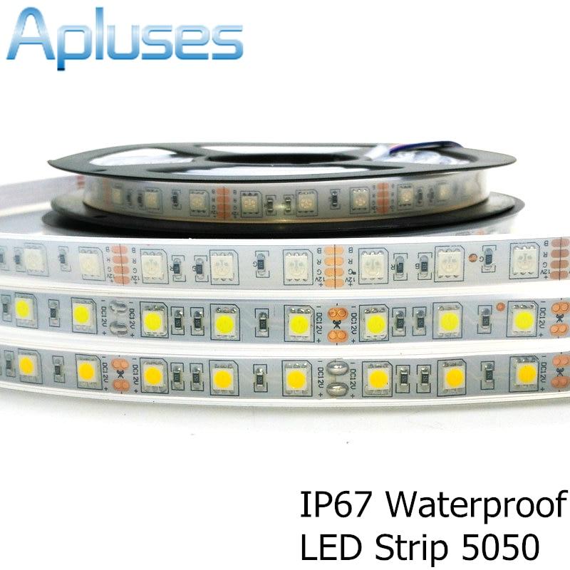 IP67 5050 LED csík DC12V 60 LED / M kiváló minőségű szilikon - LED Világítás - Fénykép 1