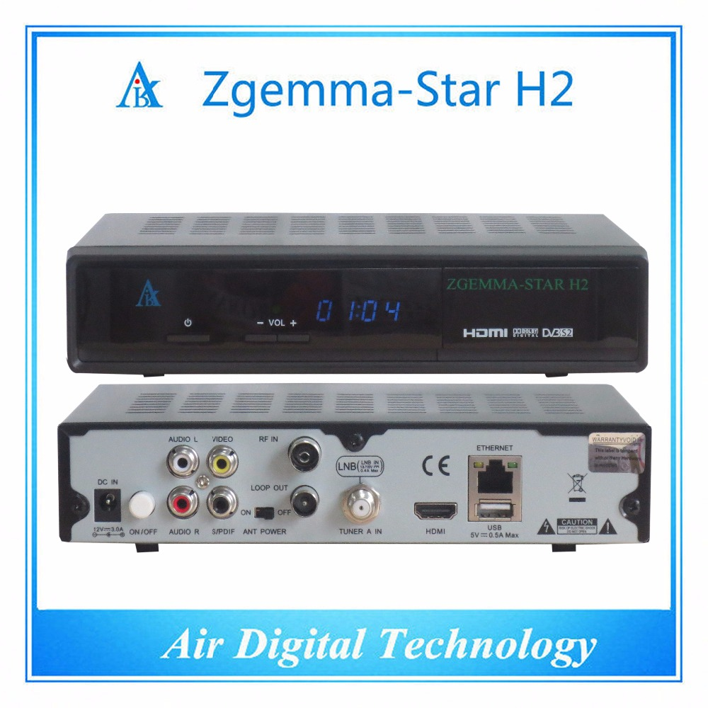 5 pcs/lot Europe hot sale combo DVB S2 + DVB T2/C satellite receiver Zgemma star H2 5pcs lot best offer 751mhz cpu zgemma star h2 hd combo dvb s2 dvb t2 c satellite receiver low cost in stock now