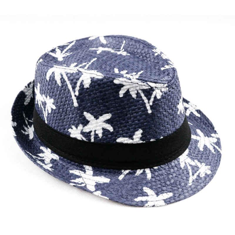 621b8d74798 ... LNPBD 2017 hot sale Summer straw Sun hat kids Beach Sun hat Trilby  panama Hat handwork ...