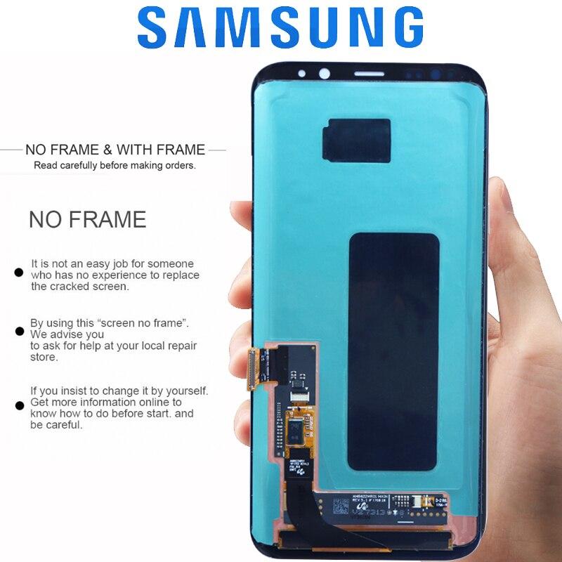 HTB18kE9XEuF3KVjSZK9q6zVtXXa7 Original LCD For Samsung Galaxy S8 S8 plus G950 G950F G955fd G955F G955 Burn-in Shadow Lcd Display With Touch Screen Digitize