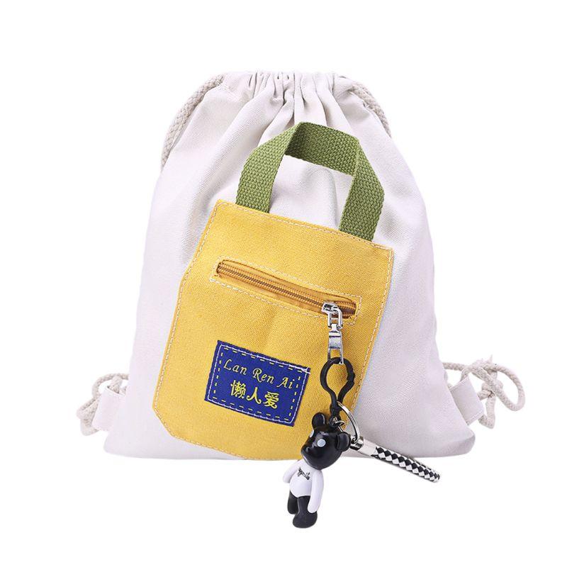 Billiger Preis Leinwand String Rucksack Schule Tasche Cinch Sack Tote Gym Sport Pack SorgfäLtige Berechnung Und Strikte Budgetierung