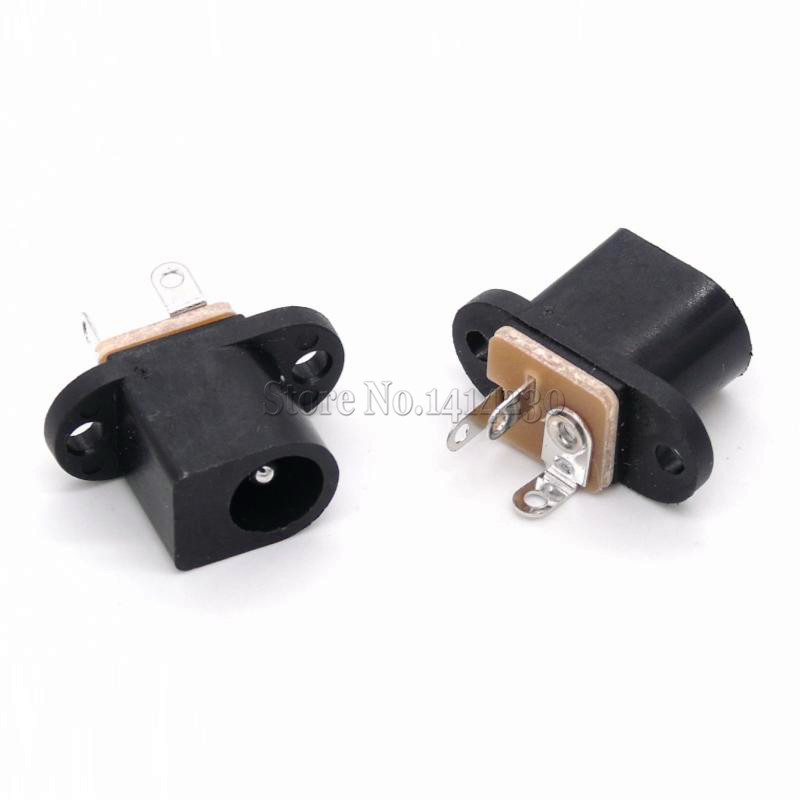 10Pcs DC017 DC Female Power Socket 5.5mm*2.1mm With Ear Screw Hole Dc-017 DC Socket Adapter Connector Jack