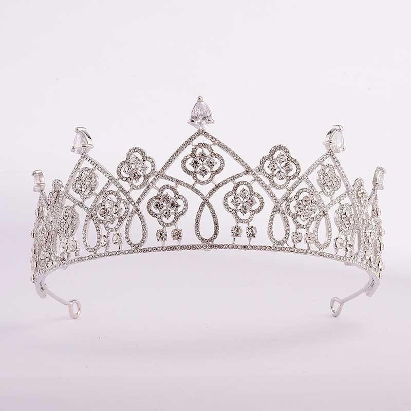 Clear Zircon Tiara Crown Rhinestone Sweet Headbands Princess Coronet Hair Jewelry Wedding Party Headpiece Gifts LB