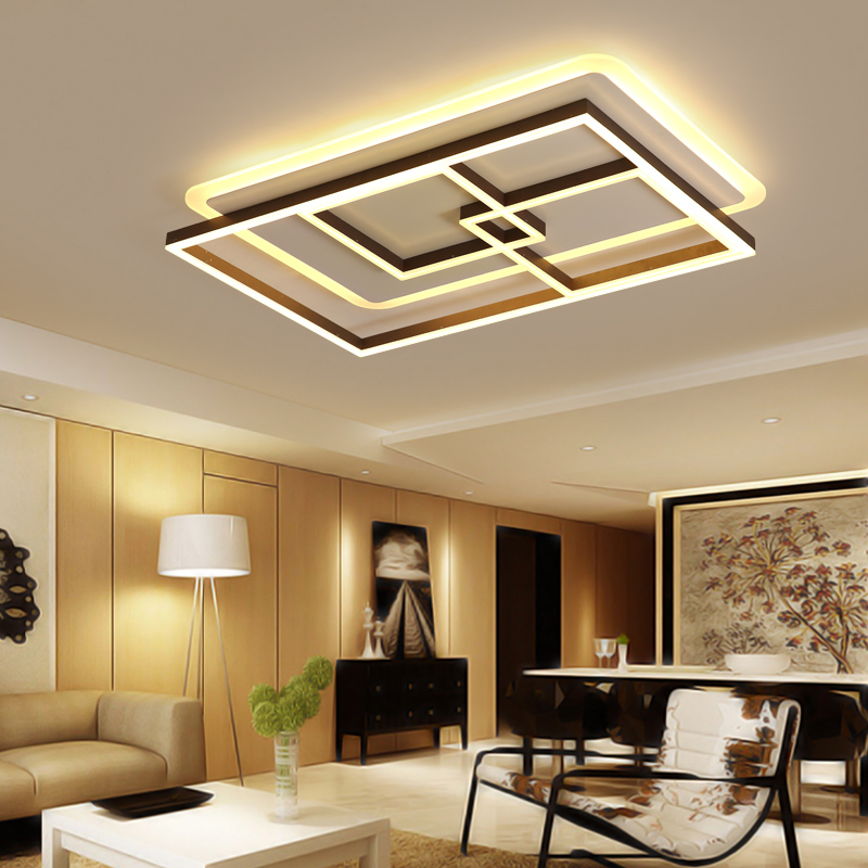 White+ Coffee color Finish Living Room Bedroom Study Room Led Ceiling Lights lampara de techo Modern led Ceiling Lamp Fixtures все цены