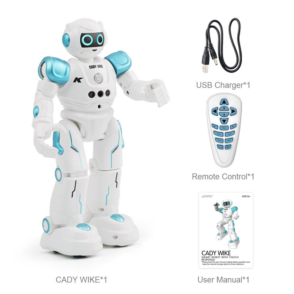 JJRC R11/R12 Robot rc Cady Wike télécommande Marche led Geste Robot Détection Intelligente Programmable Chant Patrouille Jouets