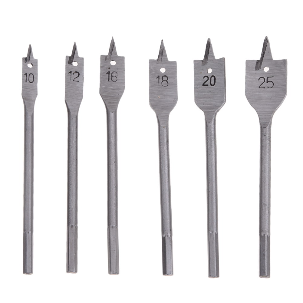 Brand 6PCs Wood Drill Bit Set Hole Saw Cutter Woodworking Tools for Wood QST High Quality High Speed Steel high quality 50mm concrete cement wall hole saw set with drill bit 200mm rod with wrench