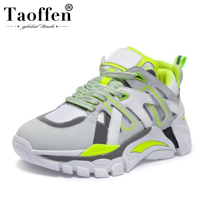 Taoffen Real Leather Thick Bottom Fashion Spring Vulcanized Shoes Women Simple Air Cushion Teen Vulcanized Shoes Size 35-39Taoffen Real Leather Thick Bottom Fashion Spring Vulcanized Shoes Women Simple Air Cushion Teen Vulcanized Shoes Size 35-39