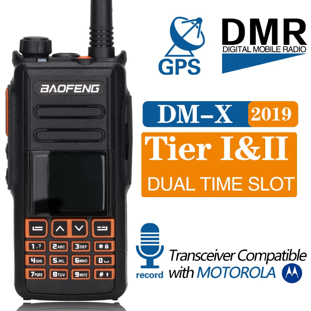 Baofeng DM X Digital walkie talkie GPS Record tier 1 2 tier ii Dual Time Slot