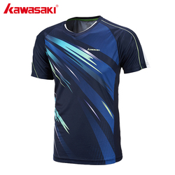 Kawasaki men tennis t shirts super light short sleeved v collar professional badminton shirts for male.jpg 250x250