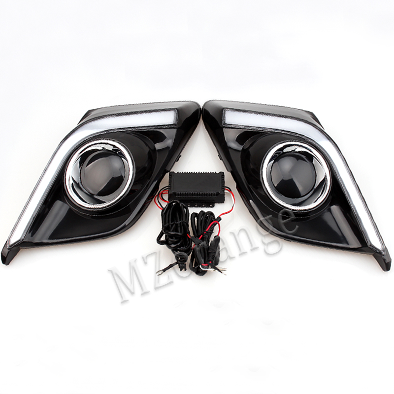 MZORANGE One Pair 12V 6000k LED DRL Day Running Lights Front Fog Light Lamp For Mazda3