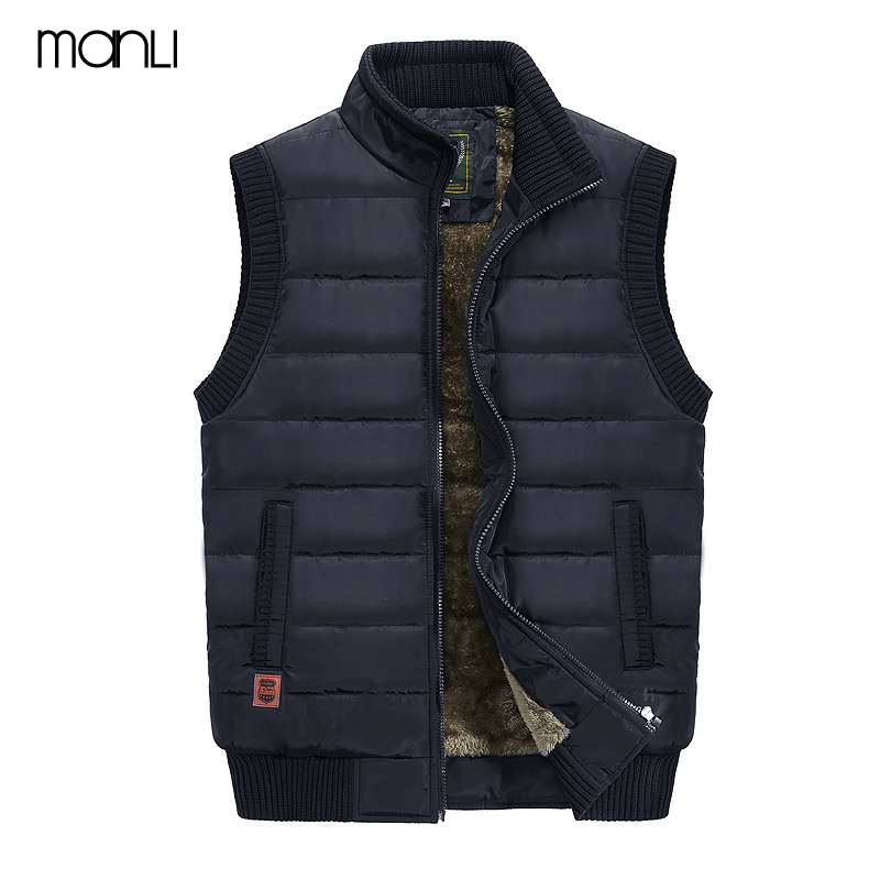 MANLI 2018 Autumn Winter Men Coat Warm Sleeveless Jacket JEEP Brand Men Vest Coat Fleece Army green Waistcoat Cameraman Vest fashion cotton jacket coat for men army green l