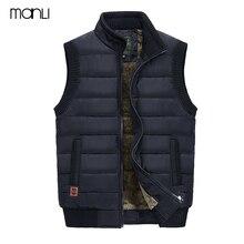 MANLI 2018 осень-зима Для мужчин пальто теплая куртка без рукавов джип марки Для мужчин жилет пальто флис армия зеленый жилет оператор жилет
