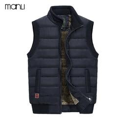 MANLI 2018 Autumn Winter Men Coat Warm Sleeveless Jacket JEEP Brand Men Vest Coat Fleece Army green Waistcoat Cameraman Vest