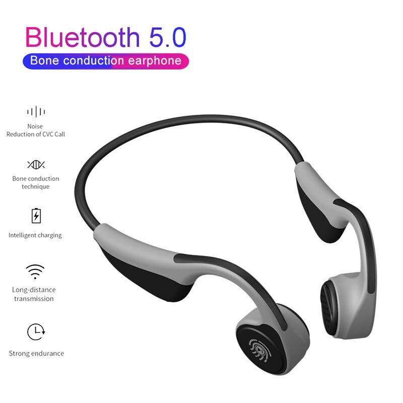Fones De Ouvido Bluetooth 5.0 Fones de Ouvido de Condução Óssea V9 Z8 PK Esportes Fones De Ouvido Handsfree Sem Fio À Prova D' Água fone de Ouvido Sem Fio