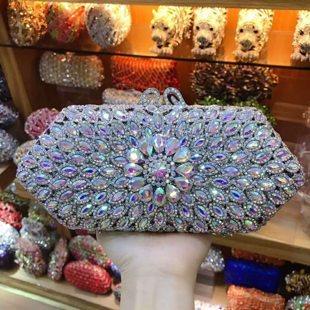XIYUAN lady gold/red Flower Hollow Out Crystal Evening bags Metal Clutches Small Minaudiere Handbag Purse Wedding Box Clutch BagXIYUAN lady gold/red Flower Hollow Out Crystal Evening bags Metal Clutches Small Minaudiere Handbag Purse Wedding Box Clutch Bag