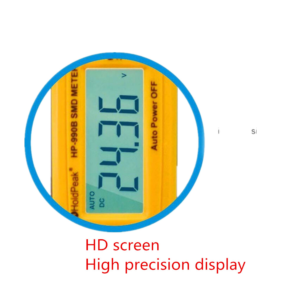 Hp 990b Smd Multimeter Diode Capacitance Resistance Tweezers Meter Continuity Short Circuit Tester Diy Kit Auto Range Resistor Capacitor Battery