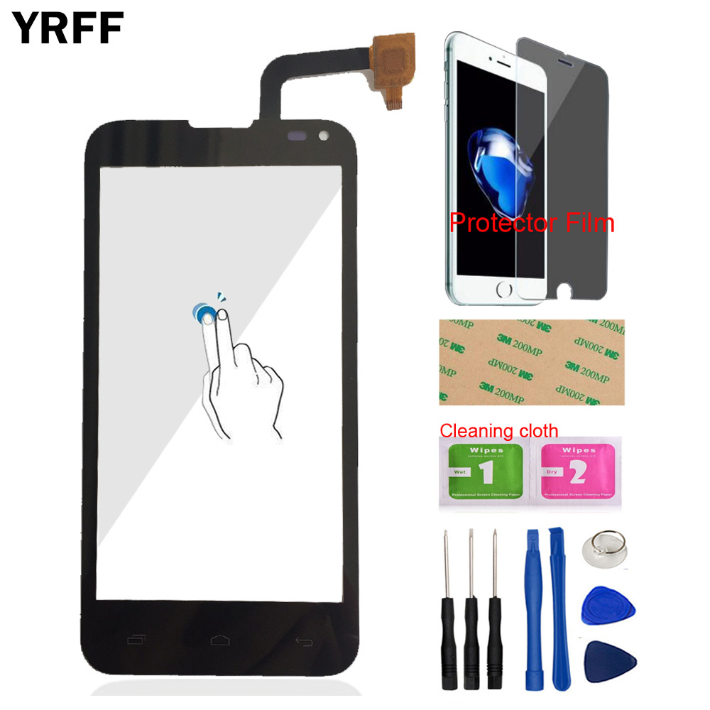Touch Screen Digitizer Panel For Fly IQ4415 IQ 4415 Touch Screen 4.5'' Mobile Front Glass Sensor Tools Protector Film Adhesive