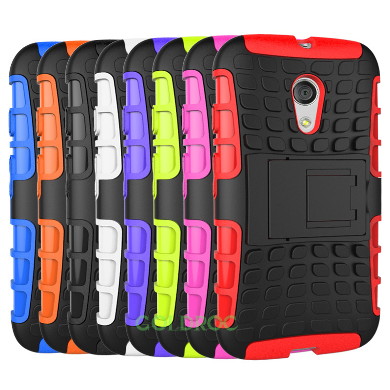 finest selection 84e76 c6f67 US $9.69 |2Pcs/lot Mobile Phone Bags & Cases Rugged Hard Back Cover Stand  Holder Case For Motorola G2 Moto G 2 Phone Cases Multicolour on ...