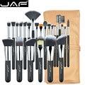 JAF 24 pcs conjunto de pincel de Maquiagem de Alta Qualidade Premiuim Macio Taklon Cabelo Maquiagem Profissional Artista Brush Tool Kit J2404YC-B