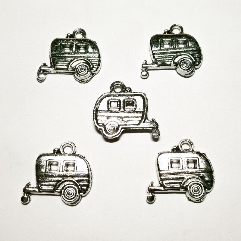Купить новинка 10 предметов искусственная серебряная фургон с прицепом