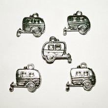 Новинка 10 предметов искусственная Серебряная фургон с прицепом