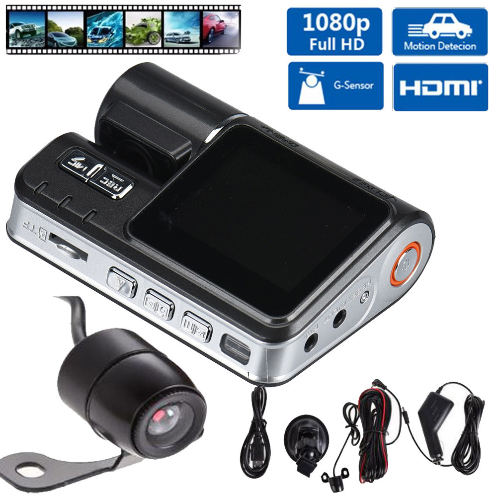 CARPRIE HD DVR 170 Car Dash Cam Recorder 1080p LED Night Vision G-sensor+Rear Camera Hdmi Full Hd Camcorders BLACK BOX N