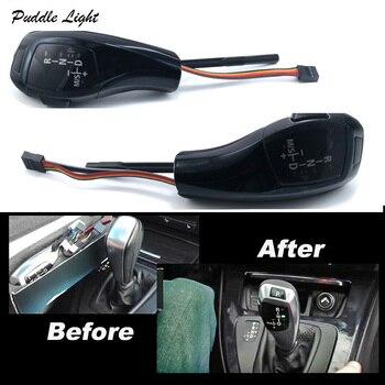 LED gałki do dźwigni zmiany biegów biegów biegów dźwignia zmiany biegów sterowania LHD dla BMW E39 E53 E46 E60 E61 E90 E92 E93 E87 automatyczny uchwyt czarny