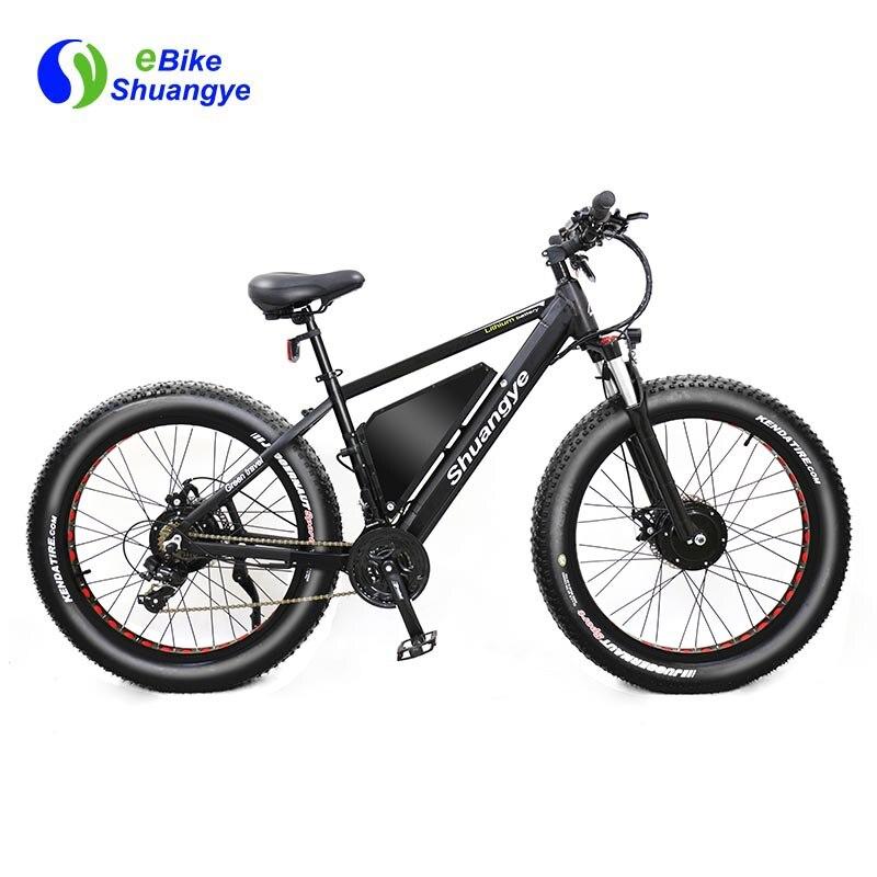New 48V 500W dual motor fat tire beach snow electric bike