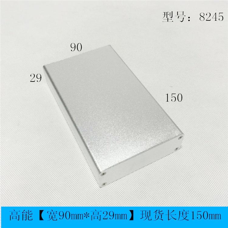 Aluminum Enclosure Box PCB Instrument Box DIY Electronic Project Case 90mm*29mm*100/150mm 8245