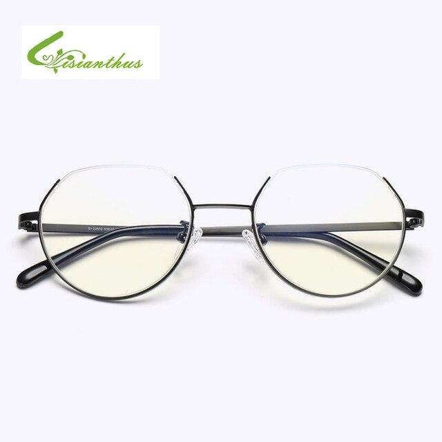 56916bf4469 Vintage Semi-Rimless Eyewear Women Brand Designer Glasses Fashion Eyeglasses  Frames Classic Half Frame Elegant Optical Glass