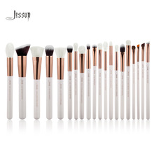 Jessup Pearl White/Rose Gold Professional Makeup Brushes Set Make up Brush Tools kit Foundation Powder Brushes