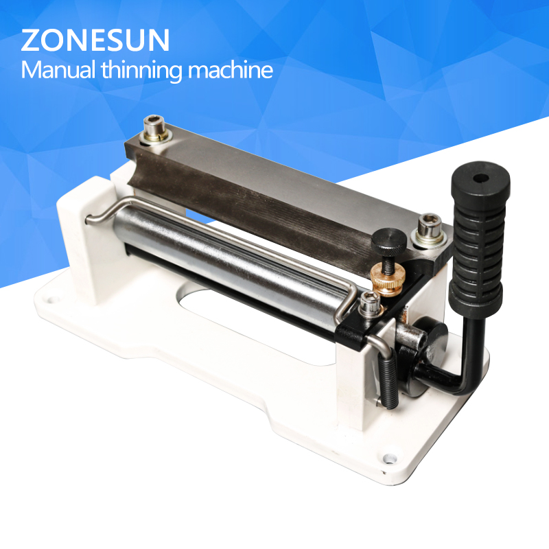 ZONESUN Leather cutting splitter Skiving machine Peeling machine Paring Leather skiver Vegetable tanning Scrape thin tool leather splitter leather paring device kit leather skiver vegetable tanning scrape thin tool ne