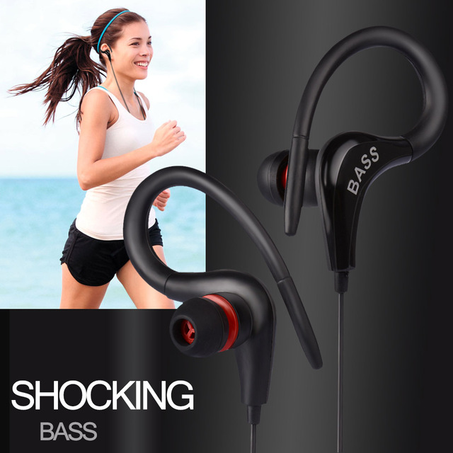 Earphone GSDUN XB13 Ear Hook Sport Headset Light Weight Bass Running Headphone for iPhone 5 5S 6 6S Plus Xiaomi Samsung Earbuds 5