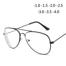 Retro Metal Cat Eye Finished Myopia Eyeglasses Spectacles Glasses For Women And Men-1.0-1.5-2.0-2.5-3.0-3.5-4.0