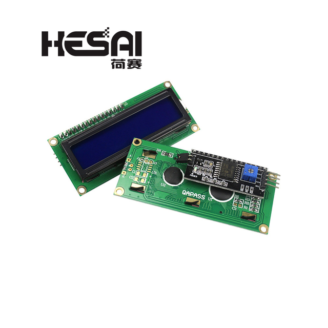 1602 LCD Module Blue/Yellow Green Screen with IIC/I2C 16x2 LCD Backlight Module LCD-1602+I2C IIC 5V for arduino DIY Kit 1