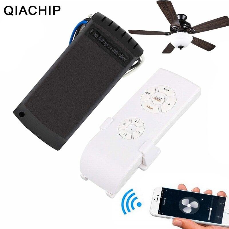 QIACHP Wifi ventilateur de plafond Smart télécommande interrupteur minuterie ventilateur vitesse variateur contrôleur fonctionne avec Alexa Google accueil AC 110 V 220 V