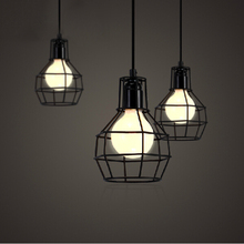 Free shipping American loft vintage lamp personality balcony wrought iron pendant lights + 100cm wire edison pendant lamp