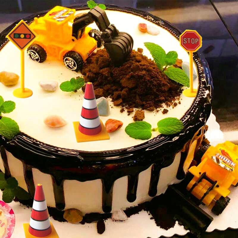Us 446 5 Off11 Pcsset Teknik Mobil Dekorasi Kue Untuk Anak Anak Laki Laki Pesta Ulang Tahun Aksesoris Mini Excavator Ornamen Anak Hadiah Mainan