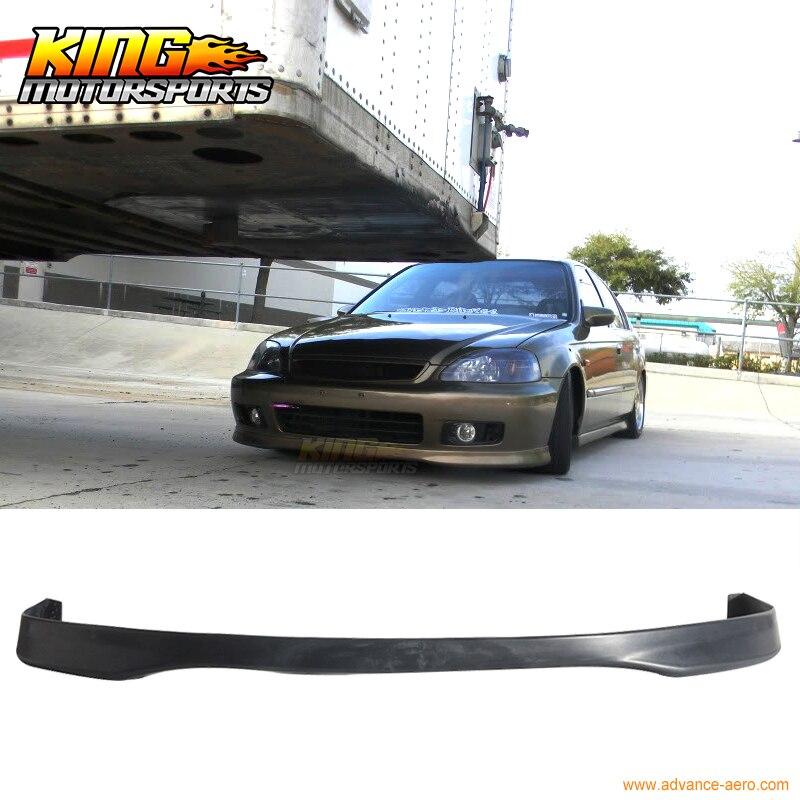 Black Type R Style PP Polypropylene Front Bumper Lip For 1999 2000 Honda Civic