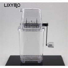 LIXYMO 2017NEW non-electirc domestic manual ice crusher chopper home use reinforced thicken PP with stainless steel