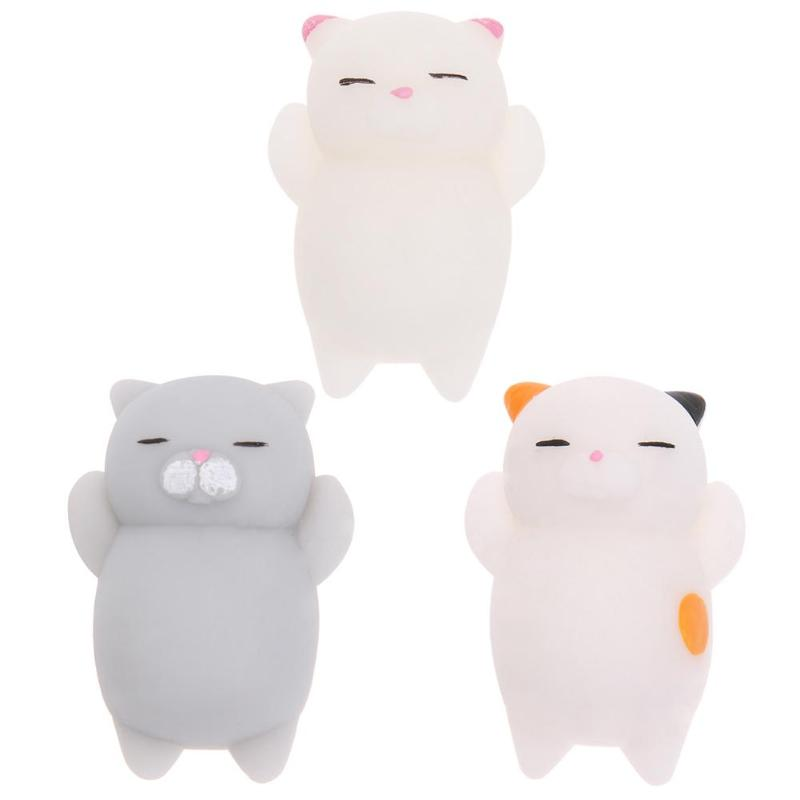 Soft Cute Cat Wipes Antistress Boot Ball Decompression Sticky Eliminate Pets Fun Stress SqueezeToys