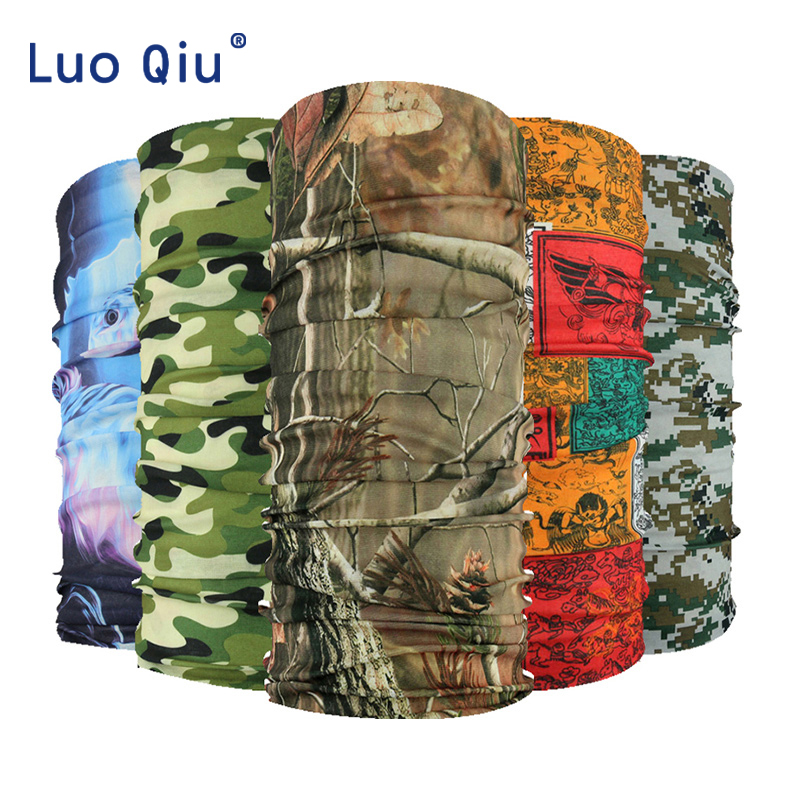 Polyester Scarves Outdoor Sports Bandana Scarf Camping Hiking Cycling Headwear Hunting Washouts Magic Scarves
