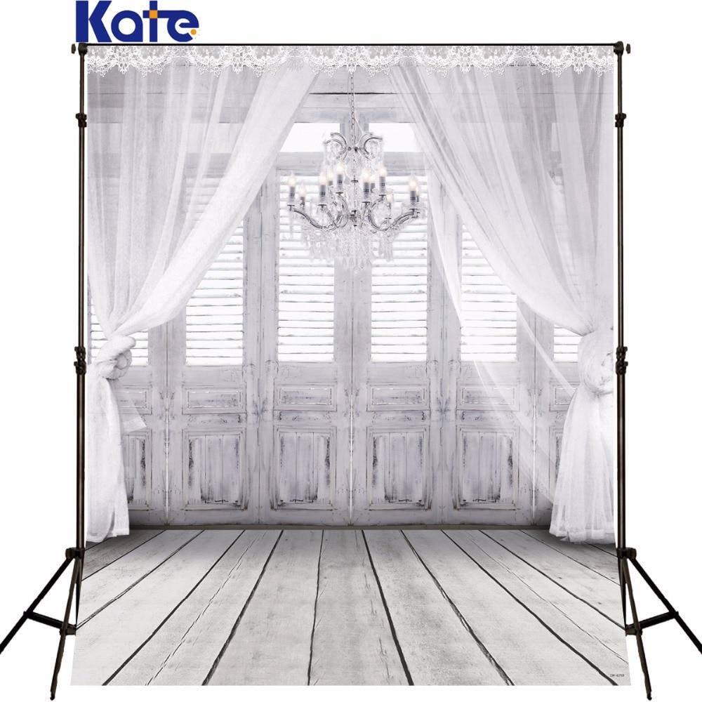 KATE 10X10FT Białe tło fotografia ślubna zasłona ślubna porta - Aparat i zdjęcie